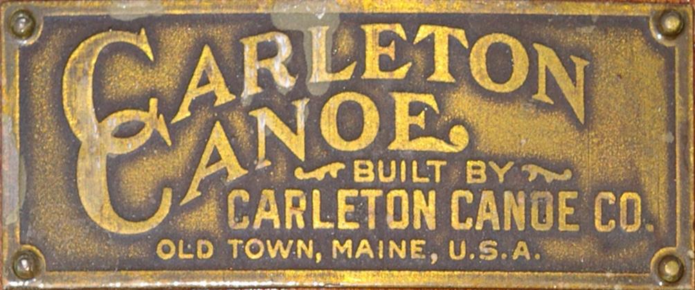 Carleton Canoe Company deck plate