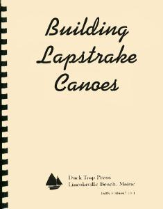 Simmons Lapstrake Canoes Cover